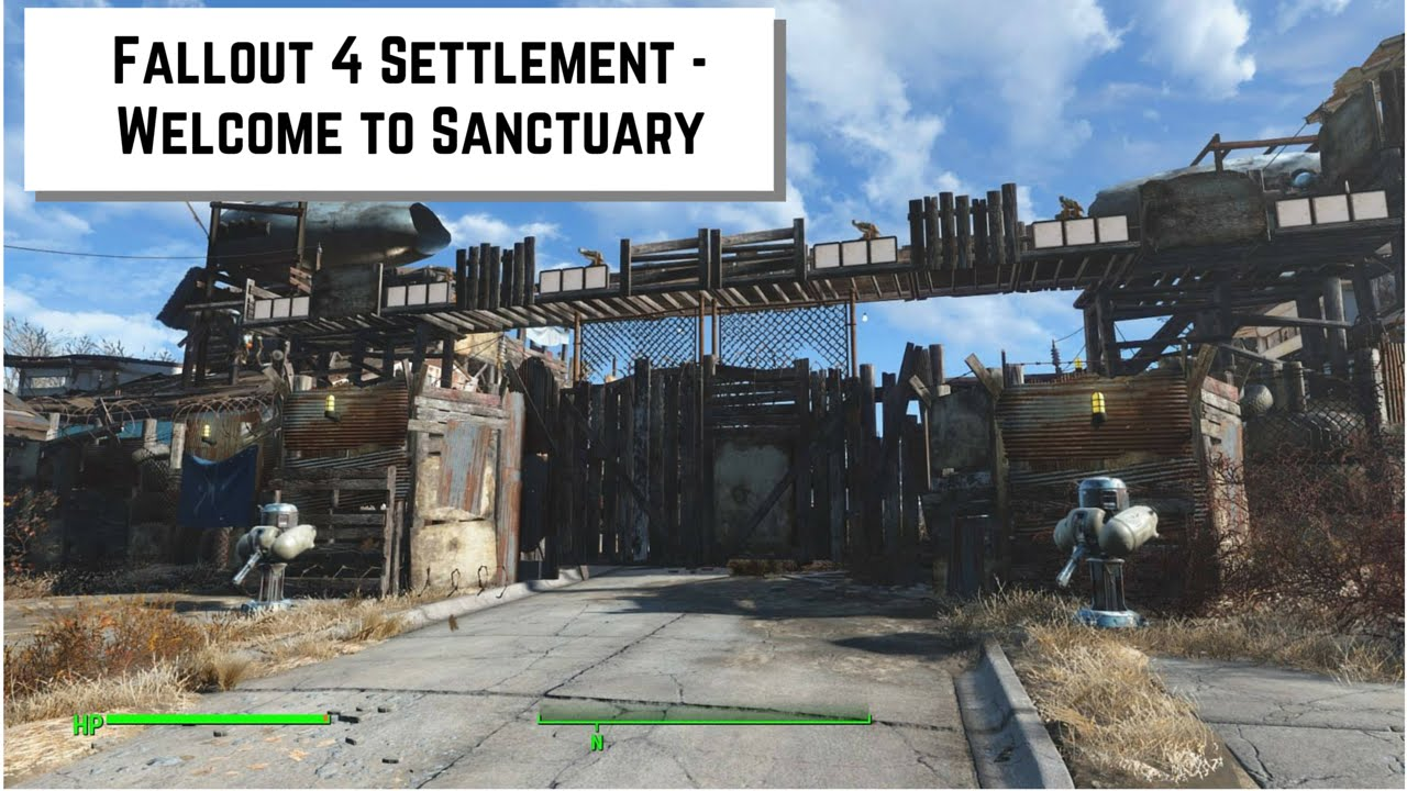 Fallout 4 settlement welcome to sanctuary doovi for Fallout 4 bedroom ideas