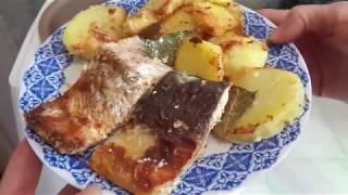 Запеченная рыба с картошкой в мультиварке PHILIPS HD4726.