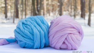 How to connect two balls of super chunky Merino wool. BeCozi