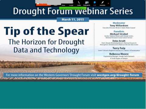 Drought Forum Webinar: The Horizon for Drought Data and Technology