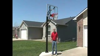 PowerHouse Challenger Adjustable Basketball System - YouTube