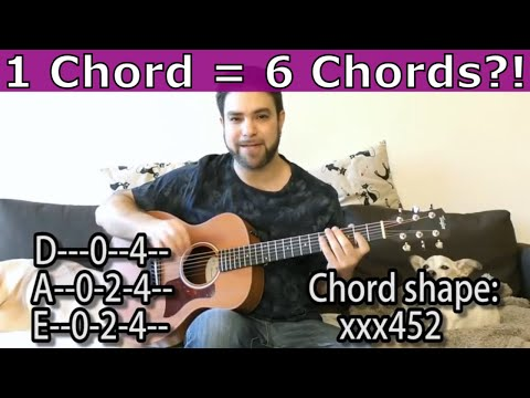 Lesson: Can One Chord Be Six Chords? (Awesome Composition Trick) - Guitar Tutorial w TAB