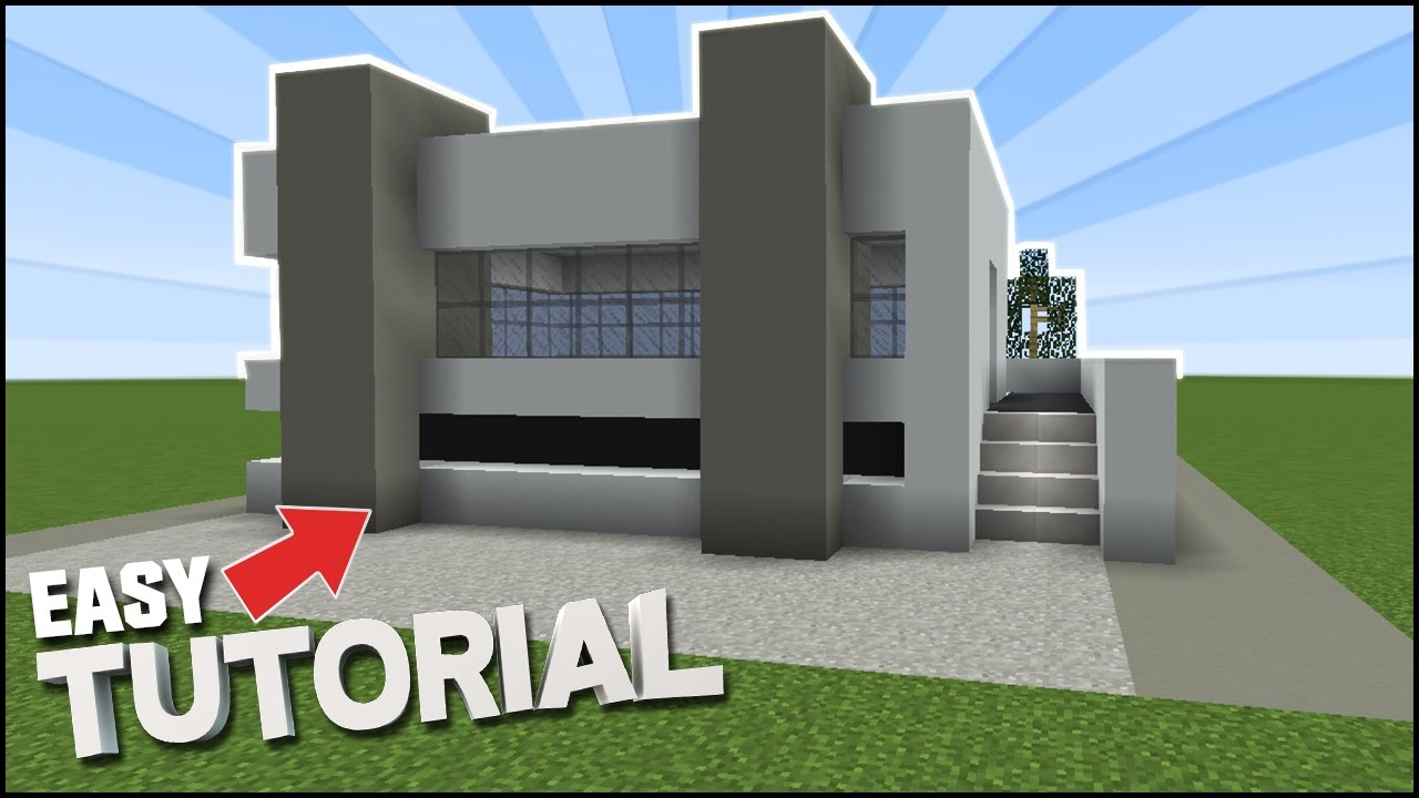 Minecraft: How to Build an Easy Concrete Modern House ...