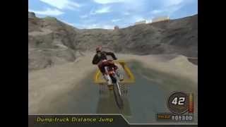 MTX Mototrax - Mision dump-truck distace jump - Rock Quarry