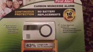 First Alert Carbon Monoxide Alarm Costco CO1210 Unboxing Review