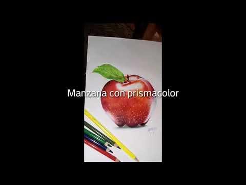 Manzana con prismacolor