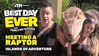 BEST DAY EVER: Meeting a Raptor at Islands of Adventure