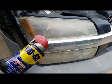 WD 40 VS Headlights | Headlight Cleaner