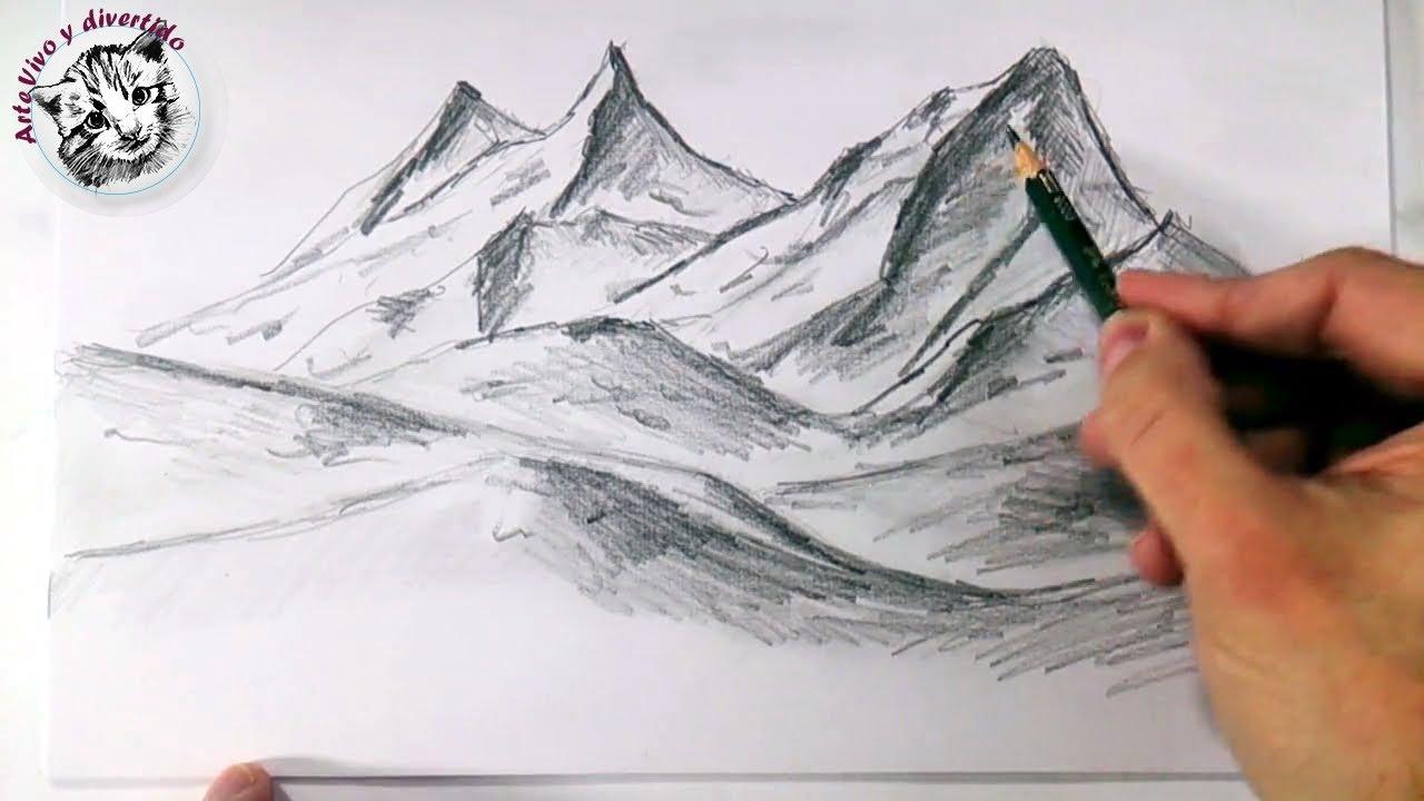 Como dibujar monta as realistas a lapiz faciles y paso a for Minimal art que es