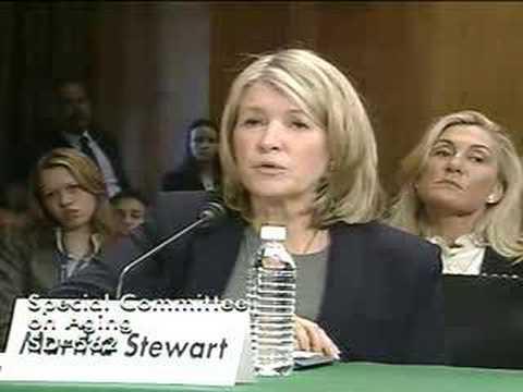 Martha Testifies Before Senate⎢Martha Stewart