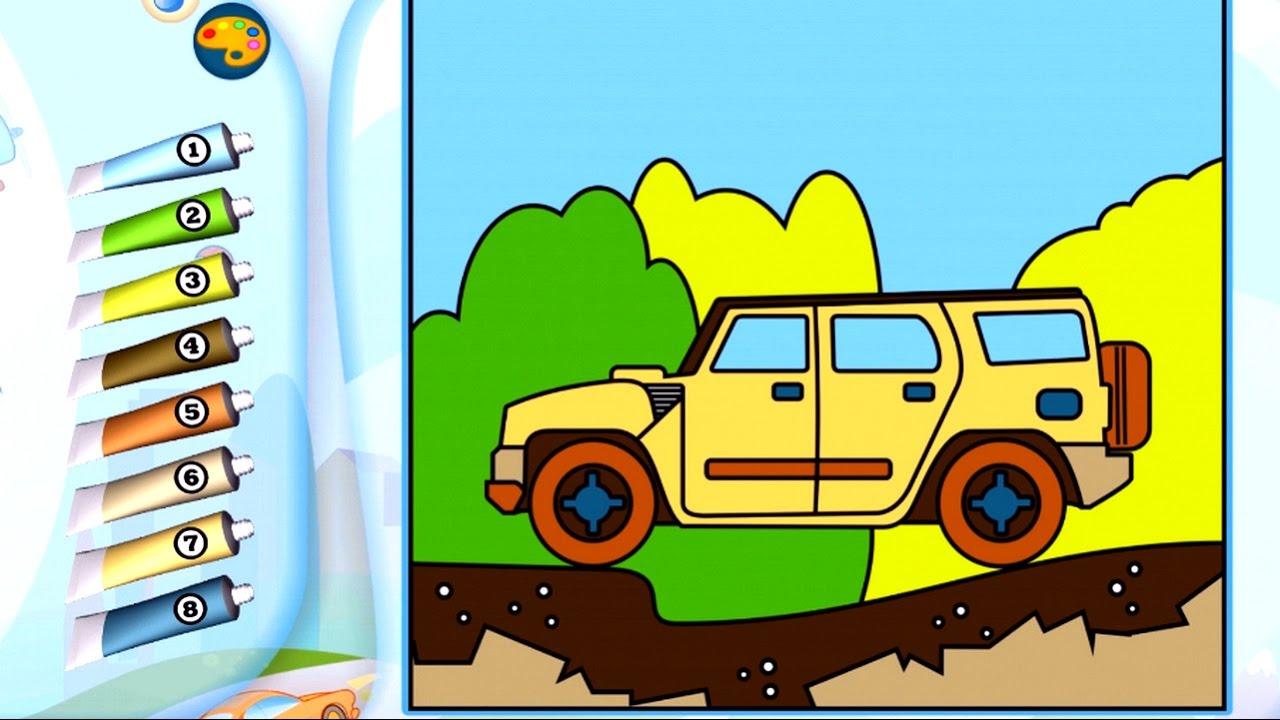 Раскраска - Игра. Транспорт. Обзор развивающего детского ...