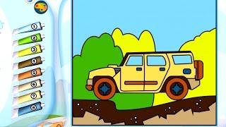 Раскраска - Игра. Транспорт. Обзор развивающего детского приложения