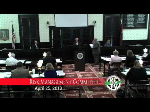 Risk Management Committee - April 25, 2013