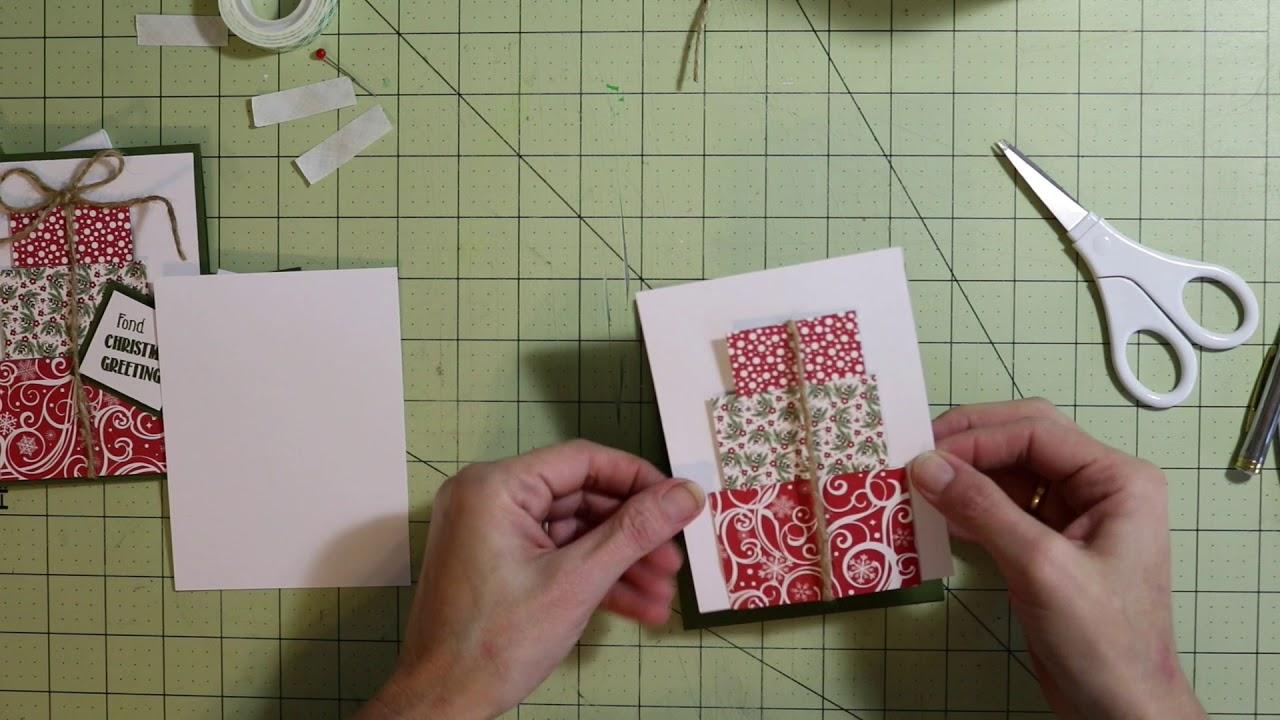 Present Scrap Christmas Card | Pinterest Inspired - YouTube