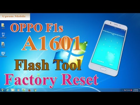 Factory Reset Oppo F1s bypass screen lock pattern ok by Flash Tool