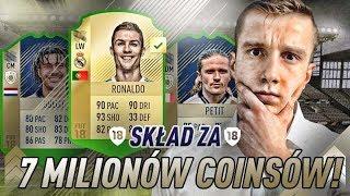 FIFA 18 l BUDOWANIE SKŁADU ZA 7 MILIONÓW COINSÓW! NOWE IKONY! FIFA ULTIMATE TEAM!