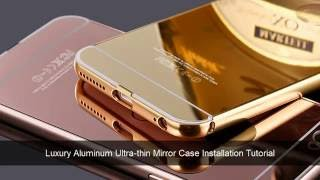 Installation guide for Aluminum Ultra-thin Mirror Metal Case Cover Iphone 5 5S SE