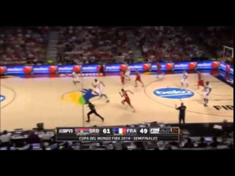 Nic Batum 35 points vs. Serbia (8/12 from 3pt land)