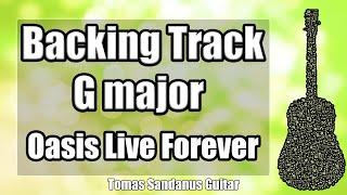 Live Forever Style Backing Track in G major - Oasis Britpop Guitar jam Backtrack