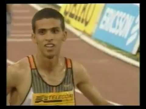 "Record du monde du 1500m masculin : Hicham El Gerrouj (3'26""00), Rome 1998"