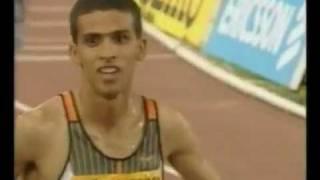 Record du monde du 1500m masculin : Hicham El Gerrouj (3'26