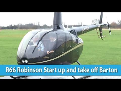 Helicopter R66 jet turbine taking off from Barton learn to fly