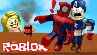 SETTING A BOMB TO EVERY HERO! | Roblox Superhero Tycoon