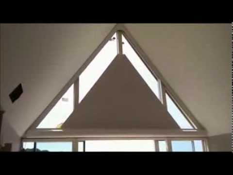 Electric Triangle Roller Blind YouTube