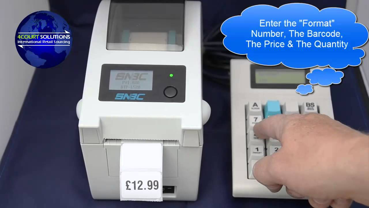 970 Linux-based Key Pad with SNBC Label Printer