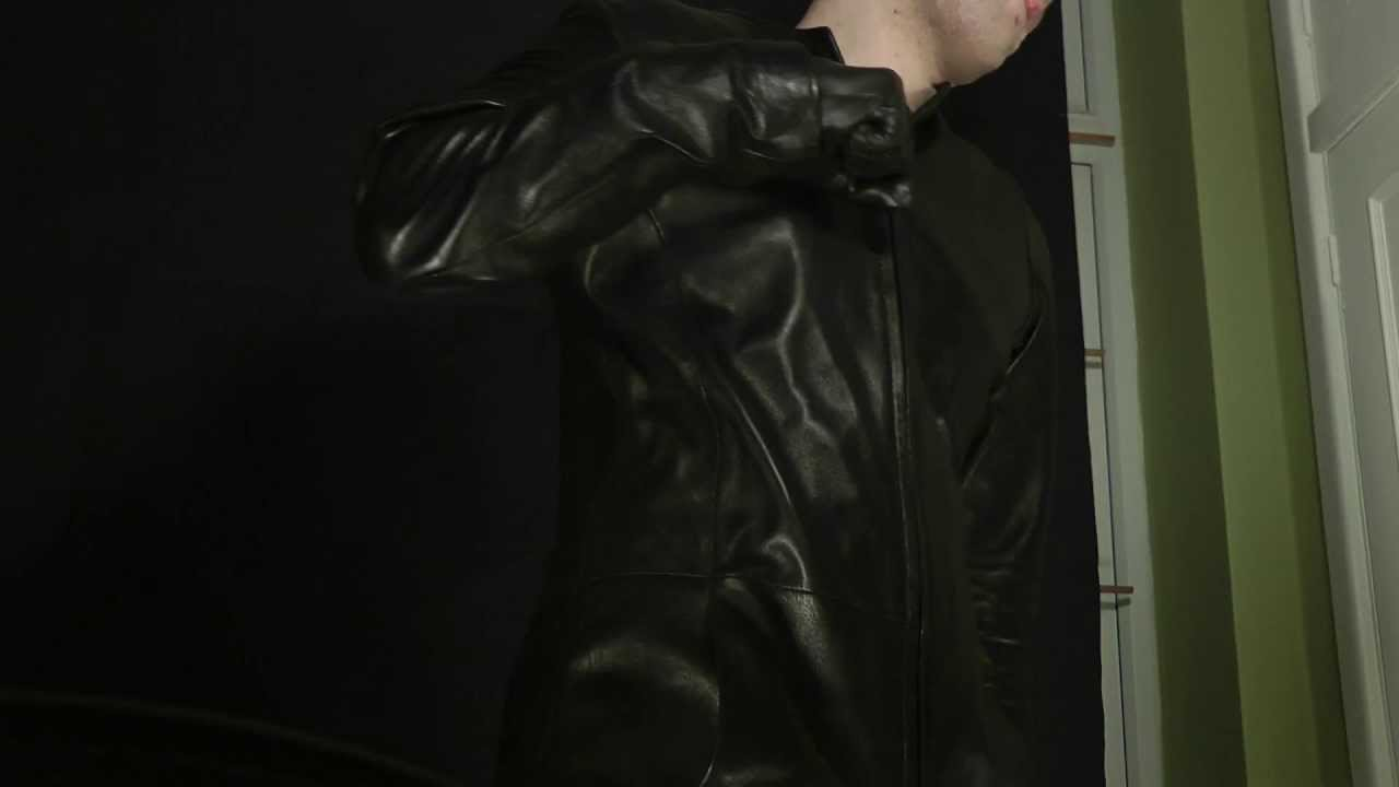 Mens leather kid gloves - Guy In Leather Pants Gloves Jacket