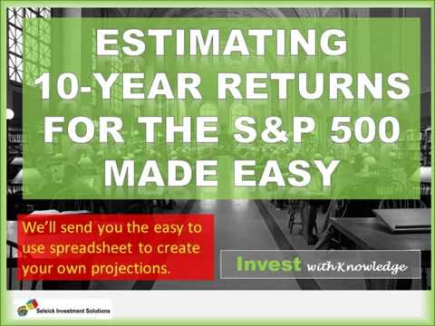 Taking the mystery out of forecasting 10-year returns for the S&P 500.