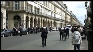 Citroën DS5 de François Hollande , cortège présidentiel rue Rivoli Paris