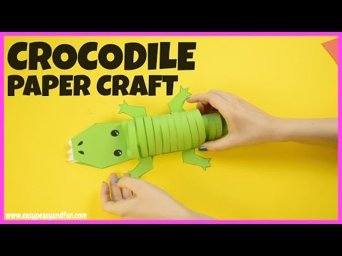 Paper Crocodile Craft - easy craft for kids
