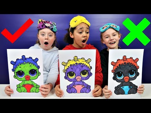 3 MARKER CHALLENGE With LOL Surprise Baby Dolls | Toys AndMe