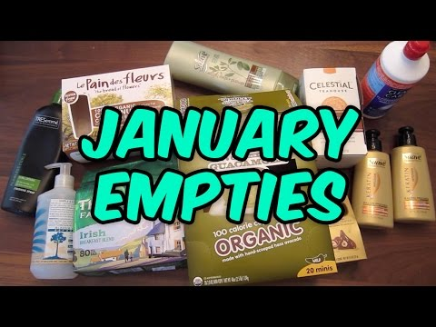 January Empties 2016 ❄ Products I've Used Up