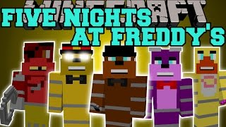 Minecraft: FIVE NIGHTS AT FREDDY'S MOD (FREDDY, FOXY, BONNIE, CHICA, & GOLDEN FREDDY!) Mod Showcase