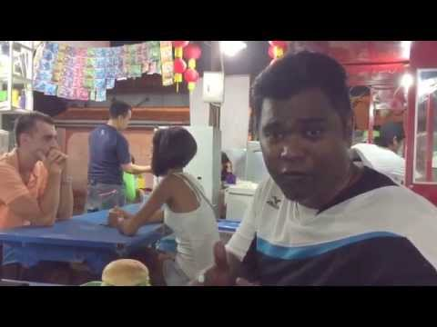 Trying western food in a local indonesia street market, Kuta- Bali
