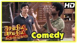 Sangili Bungili Kadhava Thorae Scenes | Soori Comedy | Thambi Ramaiah parts sides at house | Jiiva
