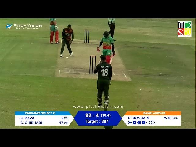 Zimbabwe Select XI vs Bangladeshis | 50 Over Warm-Up