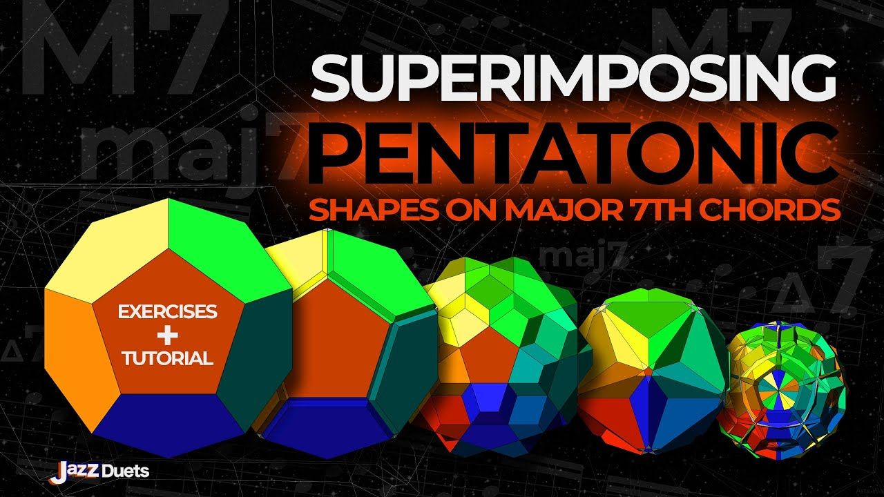 Superimposing  Pentatonics on Major 7th chords