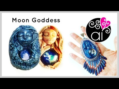 Moon Goddess | Polymer Clay Tutorial | Fantasy Style Cabochon