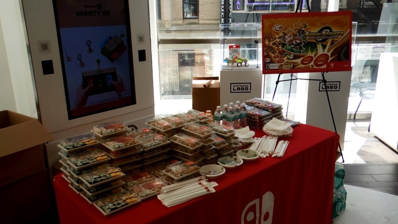 Sushi Striker International Sushi Day Celebration Event at Nintendo NY