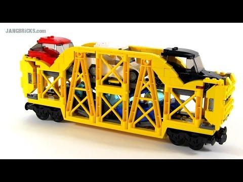 LEGO train Car Carrier - custom MOC