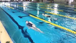 한국수영협회 자유형,배영 드릴 15 교대로 한팔 배영