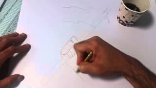 Drawing an arm holding UAE flag