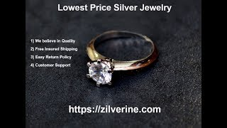 Best Price Silver Jewelry in India | Zilverine.com