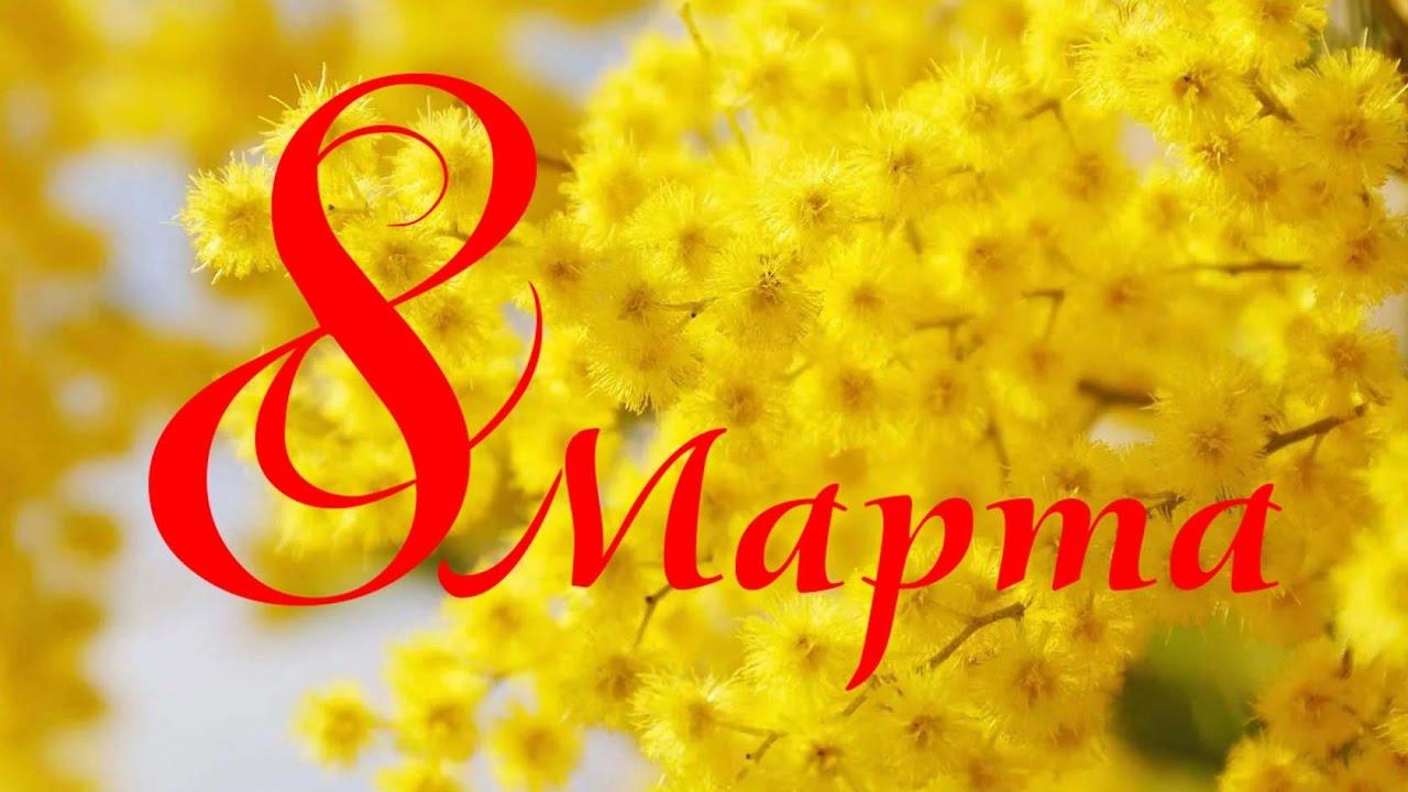 Лесом, открытка 8 марта мимозы