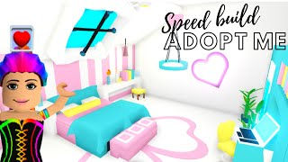 Adopt Me Speed Build Adopt Me Building Hacks Adopt Me Bedroom Adopt Me Futuristic House Youtube
