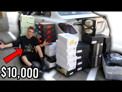 I Bought $10,000 of Clothes and Sneakers (FILLED MY CAR) Shopping Spree + GIVEAWAY