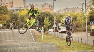 En VTT Dirt sur une piste de Race à La Rochelle avec RideFouFou